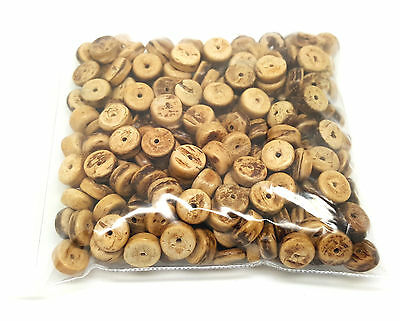 Approx 200 x 8mm Natural Coconut Wood Rondelle Loose Beads