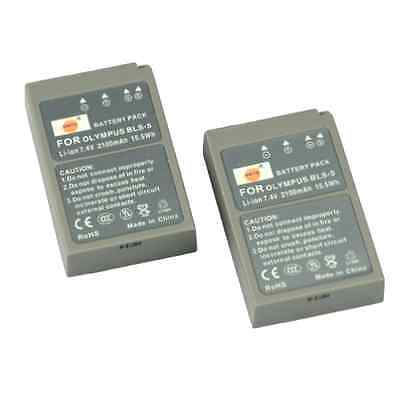 Li-ion Battery 2 Pieces Rechargeable for Olympus PSBLS5 OM-D EM10 Digital Camera