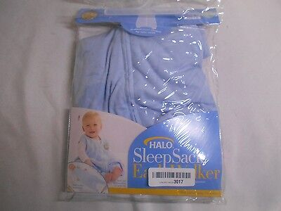 HALO Innovations 3803 SleepSack Lightweight Knit Wearable Blanket, Blue, Large