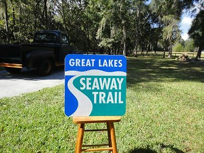Great Lakes SEAWAY TRAIL Real Reflective Road Sign great for Man Cave or Bar Etc