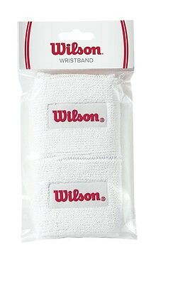 WILSON Wristbands Small - set of 2 - White/Red - NEW