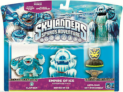 SKYLANDERS Spyro's Adventure Pack EMPIRE OF ICE Slam Bam Anvil Rain & More - NEW