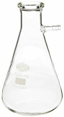 Clear Borosilicate Glass 1000 mL Filtering Vacuum Flask Chemistry Lab glassware