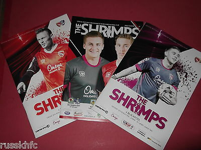 2016/17 Morecambe Home Programmes Choose From