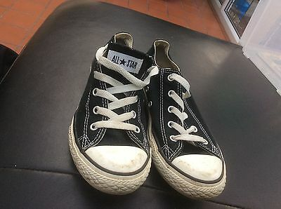 Childrens Converse All Star Casual Trainers Shoes Size 2 Unisex Black Used
