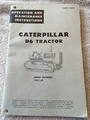 CAT Caterpillar D6 Tractor Dozer Operation & Maintenance Manual Serial #37A1-up