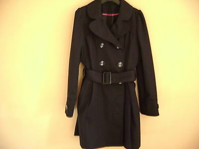 Girls Black Coat From F&f Fit Age 7-8 Years Fit Height 128 Cms
