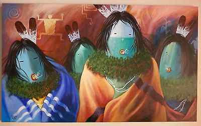Navajo David K. John Large Original Painting
