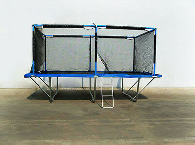 Rectangle Trampoline 10x17 ft with Safety Net Enclosure, Springs, Ladder