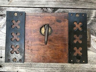 Early 1800's English Castle Back Door Lock And Key