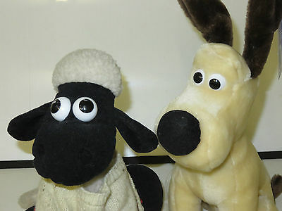 Wallace & Gromit  x3 Gromit & x2 Sean the Sheep Soft Toys