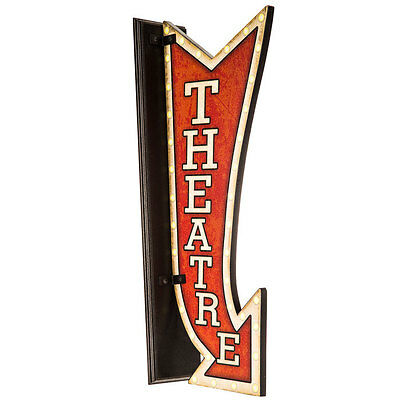 Wooden Theatre Wall Sign    HOME THEATER DECOR    OLD FASHIONED THEATER