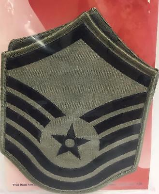 Lot of 2 United States Air Force MSgt Subdued Large Rank (ABU) Patch