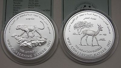 1997 Oman 1 Rial Conservation Series 2 Coin Silver proof set w/ CoA
