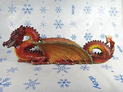 Collectible red Dragon figurine Incense Burner #i12