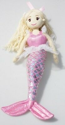 Brand New 45cm Venus Pale Pink Mermaid Child's Toy Doll