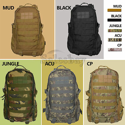 35L Hiking Outdoor Rucksack Tactical Military Backpack Shoulder Sport Canvas Bag