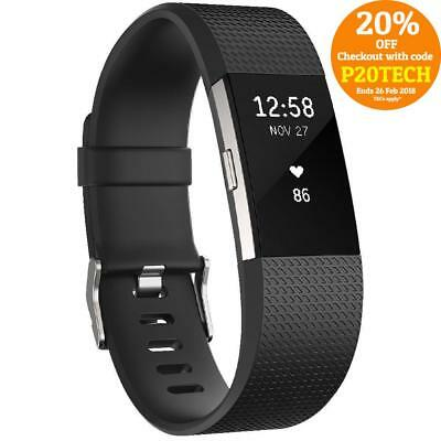 Fitbit Charge 2 HR Activity Tracker Sleep Fitness Monitor Wristband Black Small