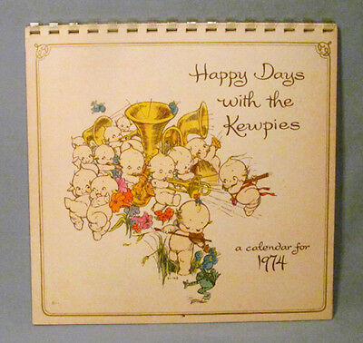 Rose O'Neill 1974 Happy Days Kewpie Illustrated Calendar - Great Condition!