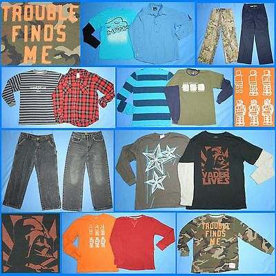 15 Piece Lot Nice Clean Boys Size 12 Fall School Winter Everyday Clothes FW175