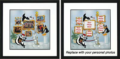 Bugs Bunny Looney Tunes Art Opening Warner Brothers Framed Sericel LE 2500 15x15