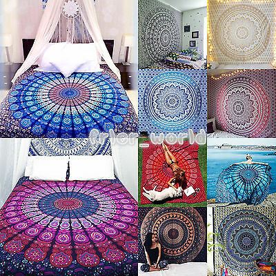 Bohemian Indian Twin Hippie Tapestry Mandala Throw Wall Hanging Gypsy Bedspread