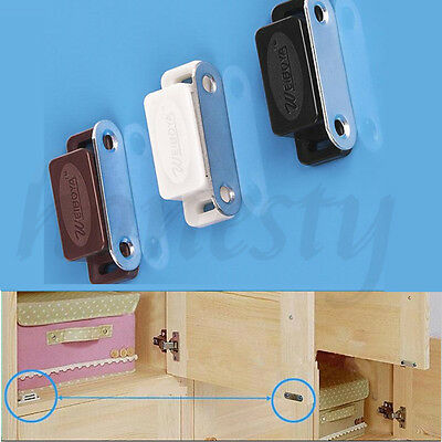 2/4/10X Magnetic Door Catches For Kitchen Cabinet Cupboard Wardrobe Latch