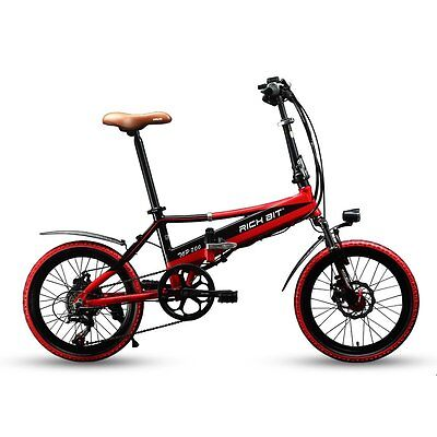 Multi Color New Folding Electric Bike Bicycle 250 Watt Ebike 7 Speeds 48V