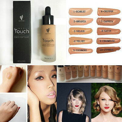 New Makeup Touch Mineral Liquid Foundation 20ml Full Size 10 Colors All Shades