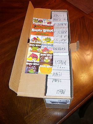 300 Angry Bird stickers from vending machine