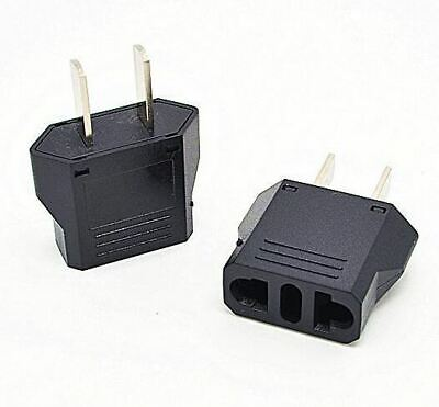 Europe (EU), Australia (AU) to United States (US) AC Power Plug Travel Adaptor