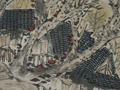 Chinese Painting Antique Landscape Paper Scroll Asian Art ink China Picture g35