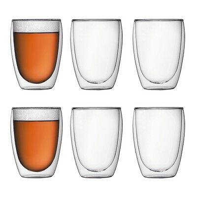 Bodum Pavina 6Pc Double Wall Thermo Glasses 350Ml Rrp$129.99
