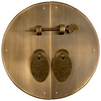 Chinese Brass Hardware Classic Round Cabinet Face Plate 8-5/8''
