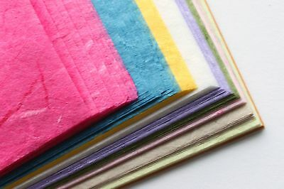 50 Sheets of A5 Mulberry Paper - Assorted Colours - Bumper Pack