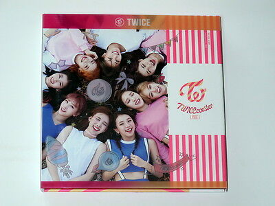 TWICE autographed 2016 mini 3rd album coaster : LANE 1 CD  korean B version