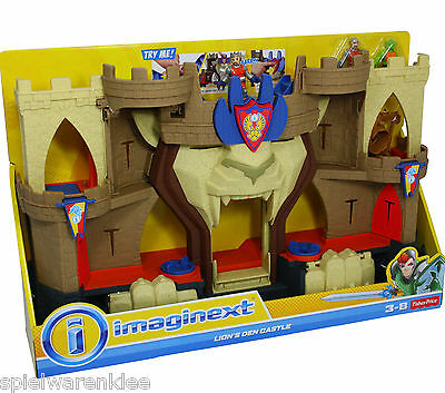 Fisher-Price Imaginext Lion's Den Castle with light + sounds Toy Playset Knight