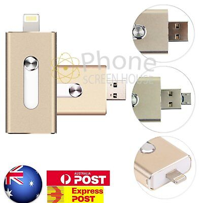 iPhone USB iFlash Drive OTG Disk Storage Memory Stick For iOS Android 32/64/128G