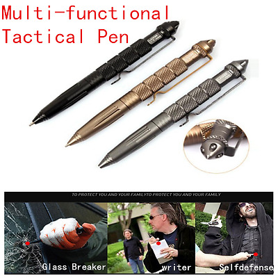 Self Defense Tactical Survival Pens Portable Multi-function Ballpoint Metal Pen