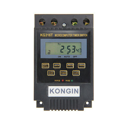 KG316T AC/220V Micro computer Timer Switch Programmable Controller ON/OFF DC 12V