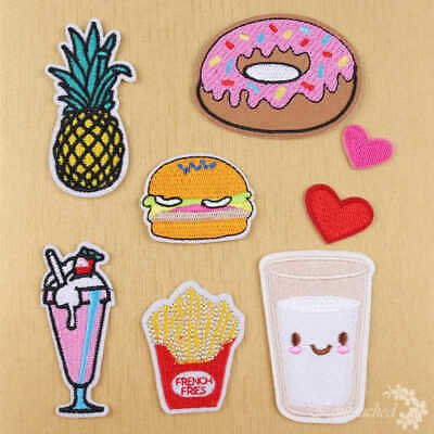 8Pcs Embroidery Fruit Cactus Sew Iron On Patch Badge Bag Clothes Fabric Applique