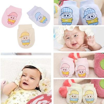 1 Pair Anti Scratch Mittens Infant Soft Cotton Handguard Newborn Baby Glove T