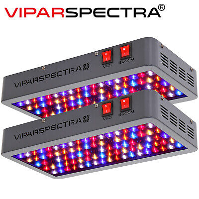 VIPARSPECTRA 2PCs 450W LED Grow Light Reflector Full Spectrum Powerful Than 300W