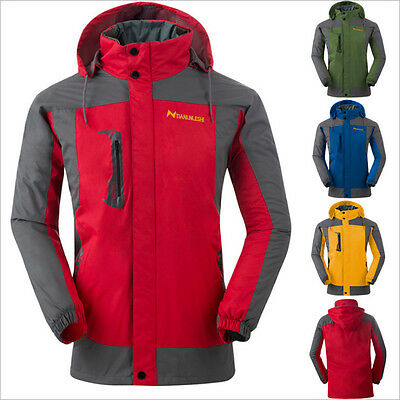 Men Waterproof Soft Outdoor Jacket Hiking Climbing Ski Snow Parka Clothes Coat