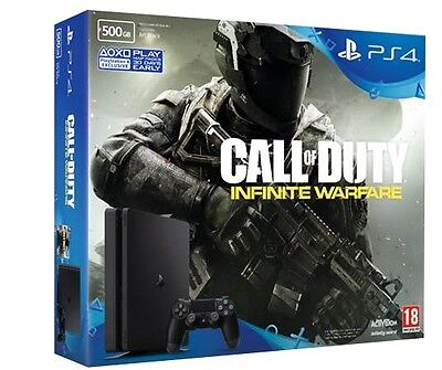 PS4 500GB Slim Console + Call of Duty: Infinite Warfare