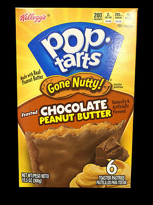 Kellogg's Pop Tarts Gone Nutty Frosted Chocolate Peanut Butter