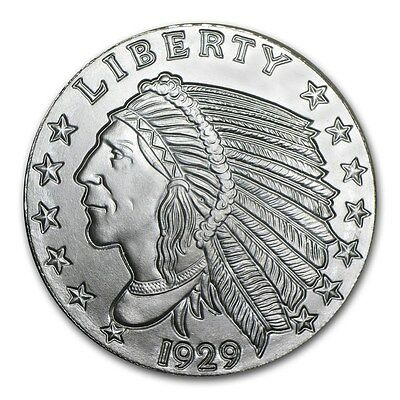 Médaille Argent 999/1000 1 Once Chef Indien - 1 Oz silver