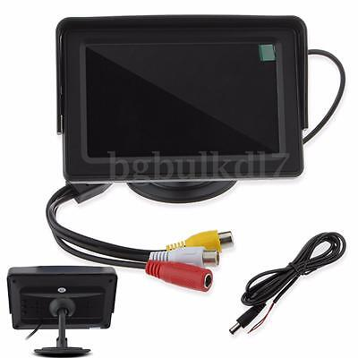 "4.3"" Digital TFT LCD Screen Rear View Monitor For Car Reverse Camera DVD VCD UK"