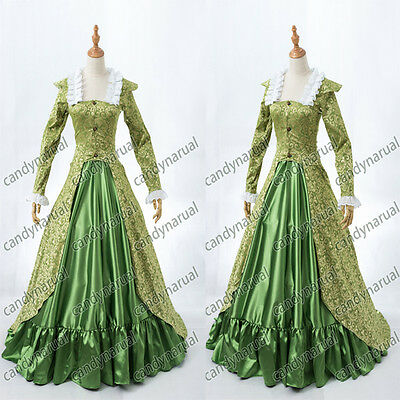 Victorian Southern Belle Prom Dress Gown Theater Reenactment Clothing Newest