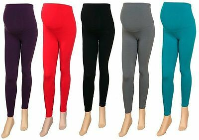 Brand New Womens Full Length Ladies Viscose Maternity Leggings